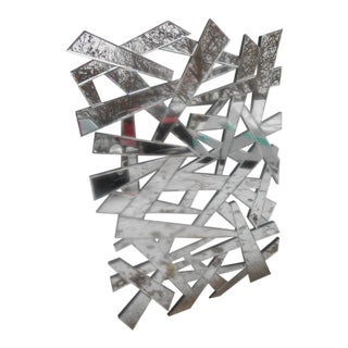 Shattered Effect Beveled Glass Wall Mirror For Sale