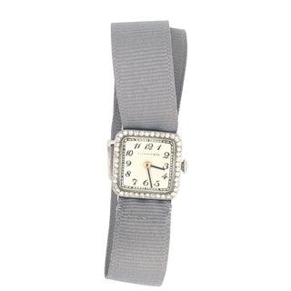 Tiffany & Co. Art Deco Platinum & Diamond Watch For Sale