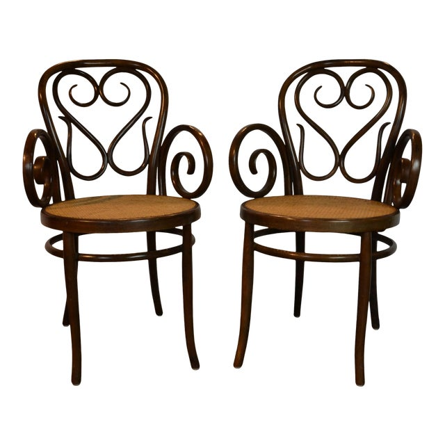 Pair of Bentwood Chairs For Sale