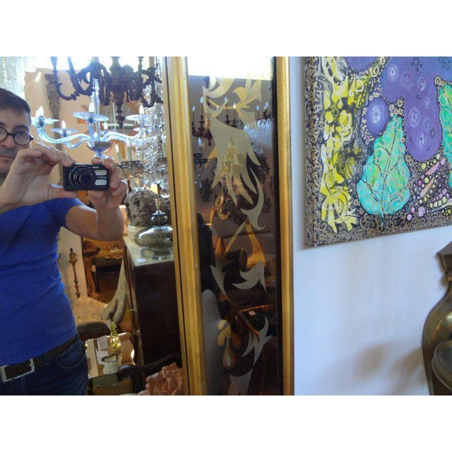 1940's French Maison Jansen Style Eglomise Mirror For Sale In Houston - Image 6 of 9