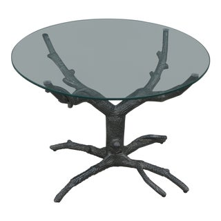 1990s Contemporary Whimsical Aluminum Tree Coffee Table For Sale