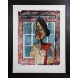 Image of Vintage Mid-Century Rufino Tamayo Portrait De Femme Lithograph Print For Sale