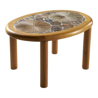 Tue Poulsen Danish Tile Top Side Table