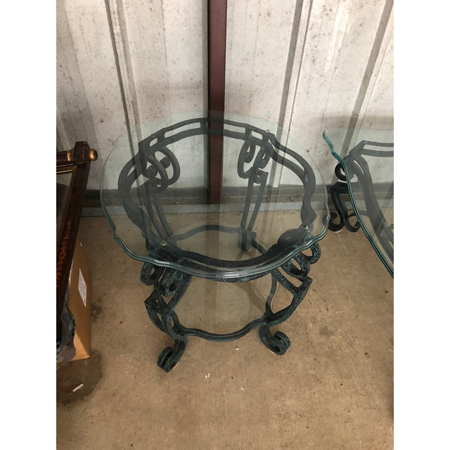 Ballard Designs Scrolled Iron Cocktail Table & Side Table For Sale - Image 9 of 13