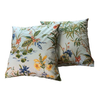 Tyler Hall Floral Pillow Covers - a Pair For Sale