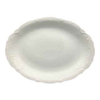 """16"""" Antique English White Grindley Ironstone Platter For Sale"""