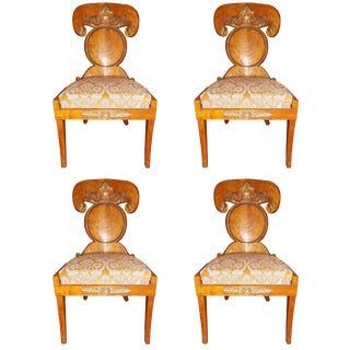 Mid 19th Century Vintage Baltic Empire Chairs- Set of 4 For Sale
