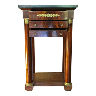 French Empire Style Chevet Bedside Table For Sale