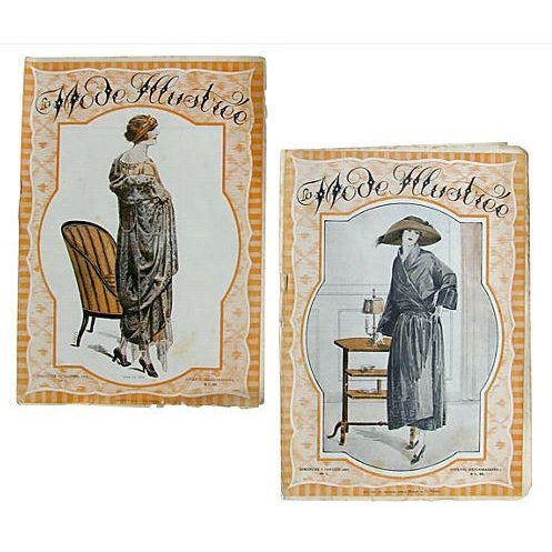 1920s French Fashion Periodicals C.1920, Pair For Sale - Image 5 of 5