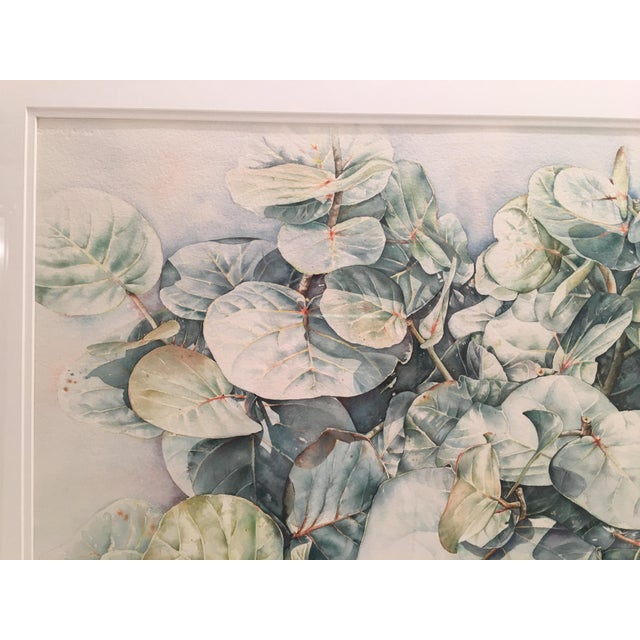 1990s Original Framed Watercolor Painting by Anna Chen For Sale - Image 5 of 9