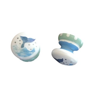 Whale Tail Cabinet Knobs - A Pair For Sale