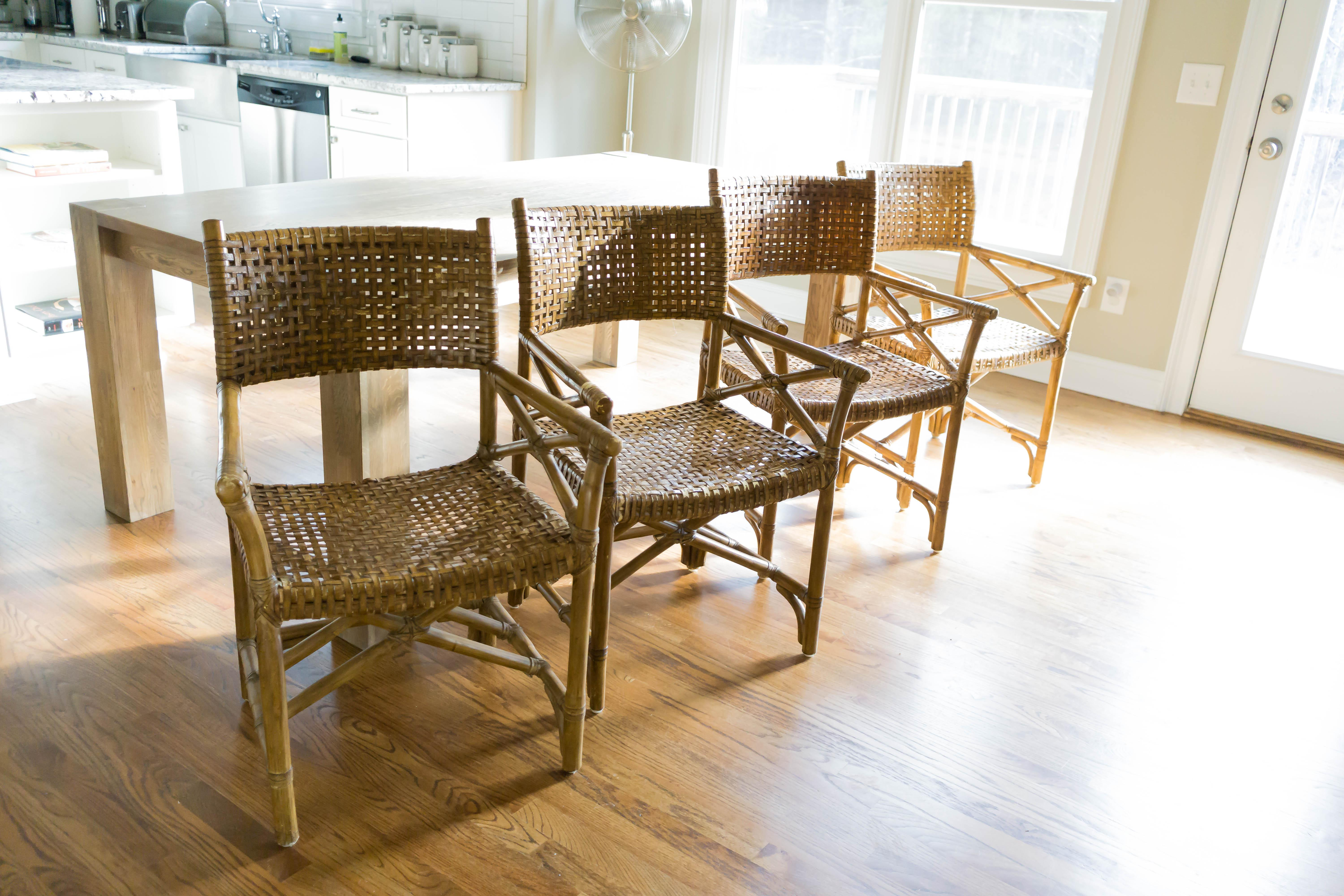 mcguire furniture company laced. McGuire Laced Rawhide Armchairs - Set Of 4 Image 6 Mcguire Furniture Company