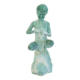 1930s Bronze Water Fountain Feature Sculpture Statue