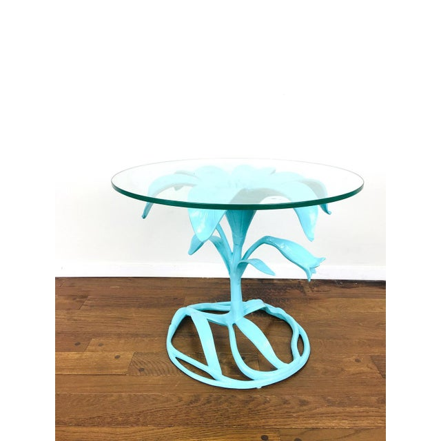 Vintage Arthur Court Style Lily Side Table For Sale - Image 4 of 9