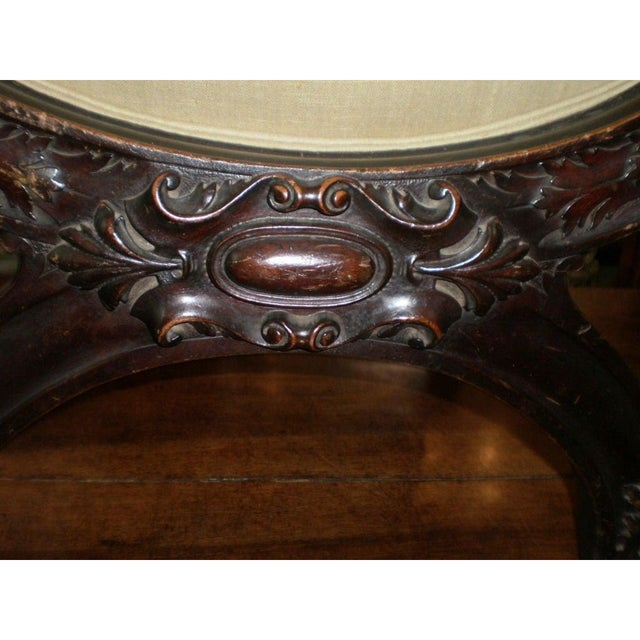 19th Century Antique Italian Carved Walnut Renaissance Style Chair For Sale In Houston - Image 6 of 10