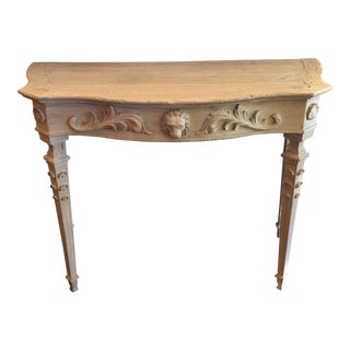 Carved Lion's Head Table