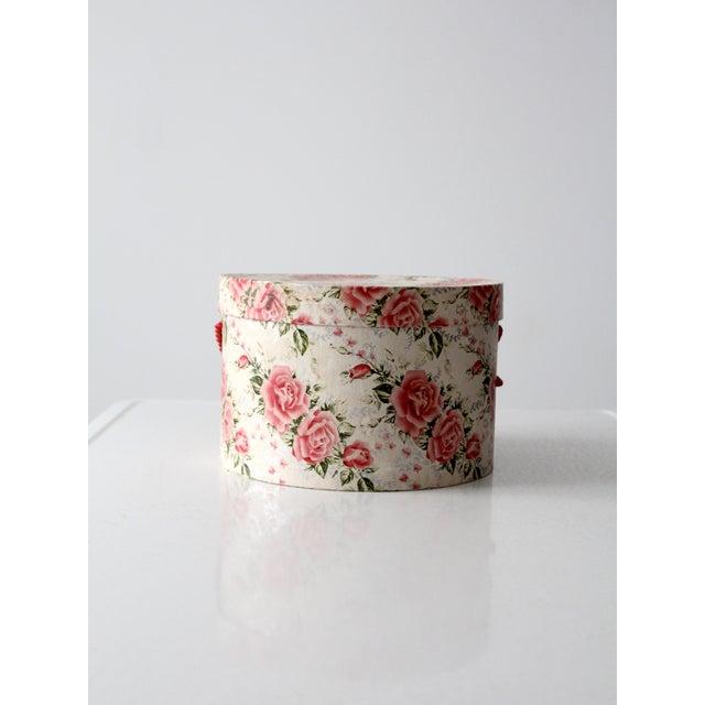 Vintage Floral Hat Box - Image 3 of 8