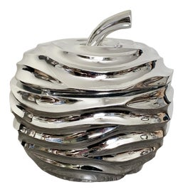 Image of Chrome Serving Dishes and Pieces