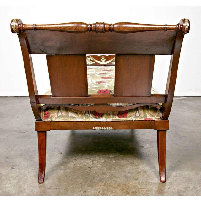 Early 19th Century French Empire Period Mahogany Lit De Repos Chaise Longue For Sale - Image 4 of 11