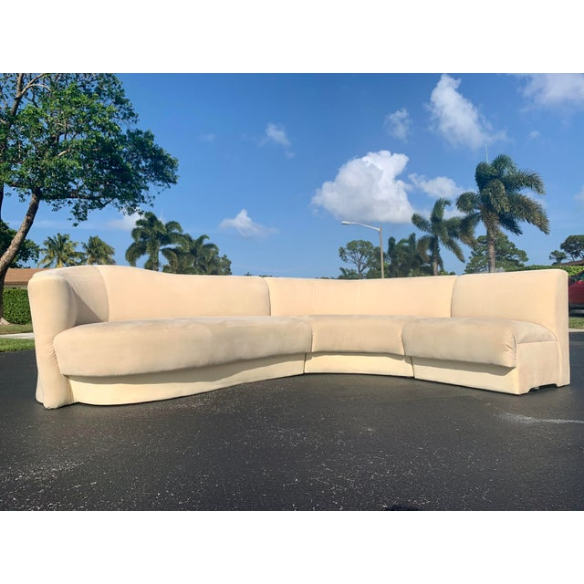 Vladimir Kagan for Weiman 3pc Scroll Back Sectional Sofa For Sale - Image 13 of 13