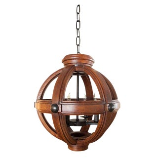 Paul Marra Small Carved Oak Sphere For Sale