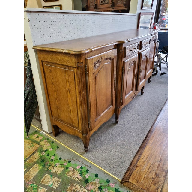 French 20th Century French Parquet Top Buffet/Sideboard For Sale - Image 3 of 12