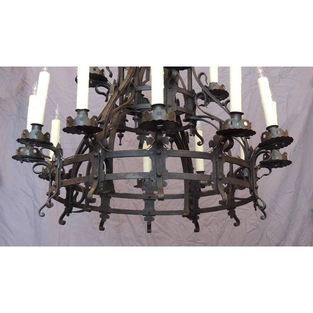 Fine late 19th c french gothic wrought iron chandelier decaso late 19th c french gothic wrought iron chandelier image 7 of 8 mozeypictures Choice Image