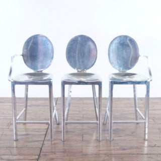 Emeco Kong by Philippe Starck Chrome Finish Bar Stools- Set of 3 Preview