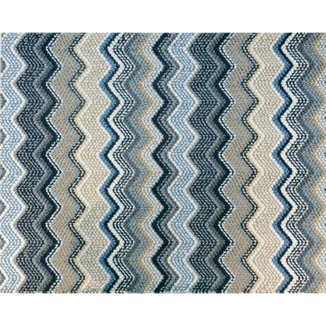 "Contemporary Stark Studio Rugs, Forlini, Cobalt , 2'6"" X 12' For Sale - Image 3 of 3"