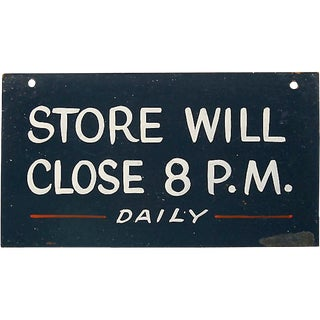 Store Will Close 8 p.m. Sign For Sale