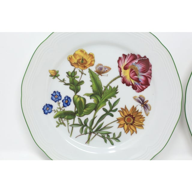 1950s Vintage Bavarian China Floral Salad Plates by Bareuther - Set of 6 For Sale - Image 5 of 12