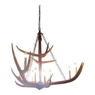 Elkhorn All Natural Custom-Made Chandelier For Sale
