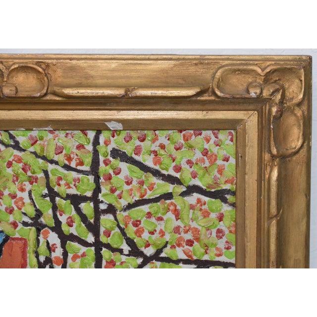 "Pamela Ruggiero ""Lacing Up Roller Skates"" Vintage Folk Art Painting c.1977 - Image 5 of 9"