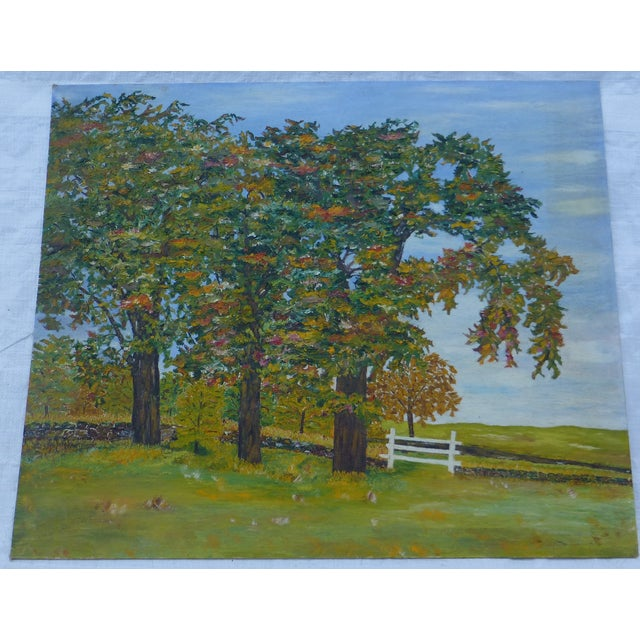 HL Musgrave Mid-Century New England Trees Painting - Image 2 of 6