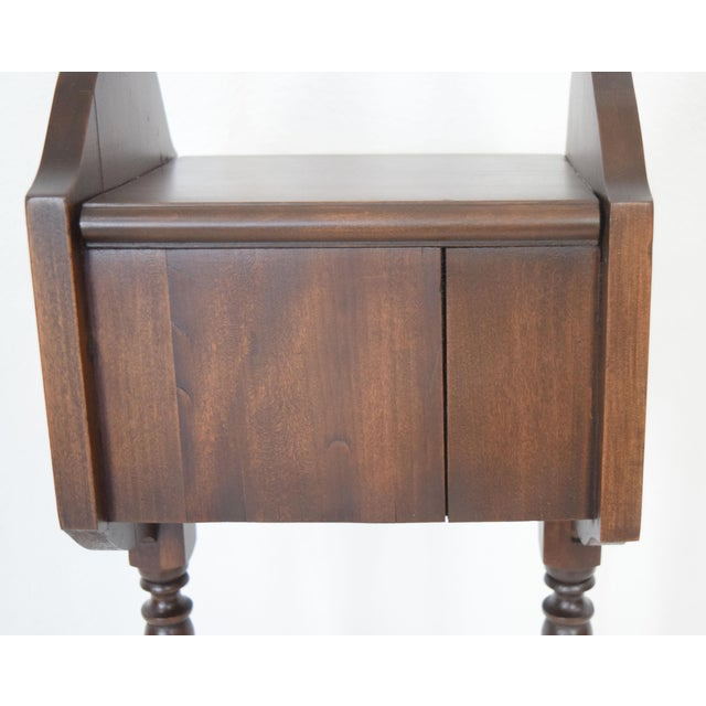 1900's Vintage Sewing Storage Side Table For Sale - Image 4 of 13