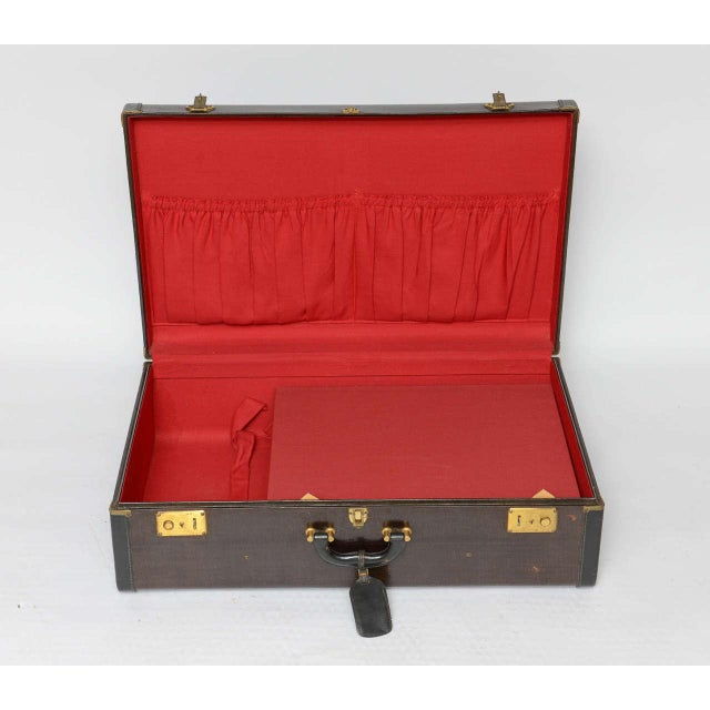 Gorgeous Pair of Vintage Italian Suitcases For Sale - Image 12 of 13