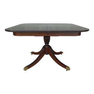 Antique Mahogany Georgian Regency Style Center Entrance Dining Table For Sale