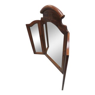 Tri Fold Mirror Wood Traditional For Sale