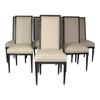 1980s Vintage Louis XVI Style Dining Chairs- Set of 8 For Sale