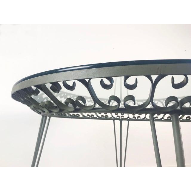 Mid-Century Modern 1960s Mid-Century Modern Arthur Umanoff Grenada Wrought Iron Outdoor Dining Table For Sale - Image 3 of 13