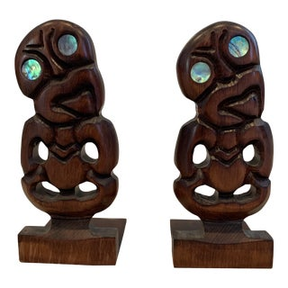 1960s Mid-Century Modern Tiki Bookends - a Pair For Sale