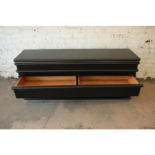 Vintage Jay Spectre for Century Furniture Cerused Oak & Chrome Dresser - Image 9 of 11