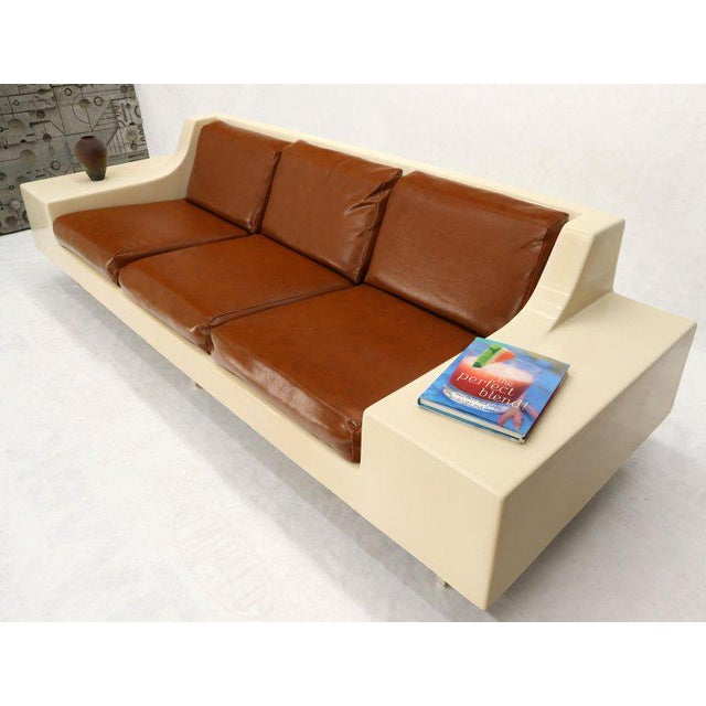 Fiberglass Mid-Century Modern 3-Seat Fiberglass Sofa With End Tables For Sale - Image 7 of 13