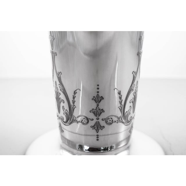 Metal Sterling Vase, 1916 For Sale - Image 7 of 9