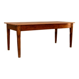 19th Century French Pine Farm Table For Sale