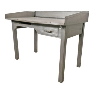 Mid-20th Century Metal Postmaster Desk For Sale