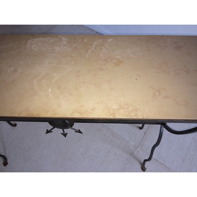 André Arbus Andre Arbus Steel Limestone Console For Sale - Image 4 of 6