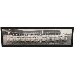 Modern Vintage Baseball Team Framed Photo For Sale