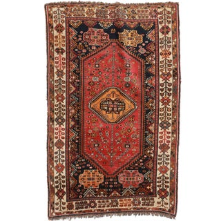 RugsinDallas Persian Shiraz Hand Knotted Wool Rug - 4′4″ × 7′3″ For Sale