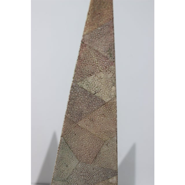 Vintage Maitland-Smith Shagreen Obelisks - a Set of 2 For Sale In West Palm - Image 6 of 11